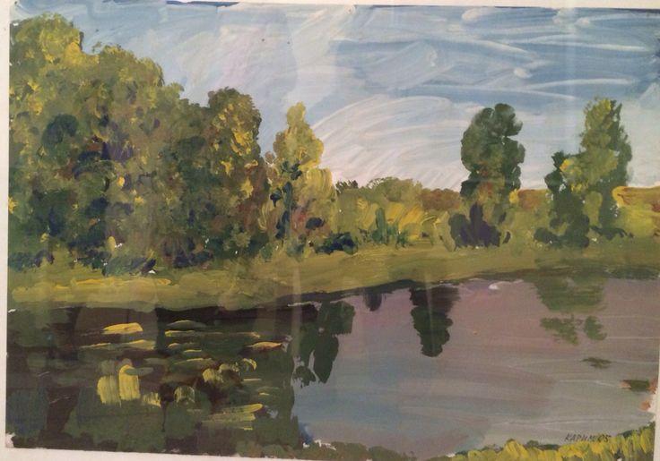 Karimullin Ravkat. Guashe on paper 50/60 cm. 2005. Landscape .