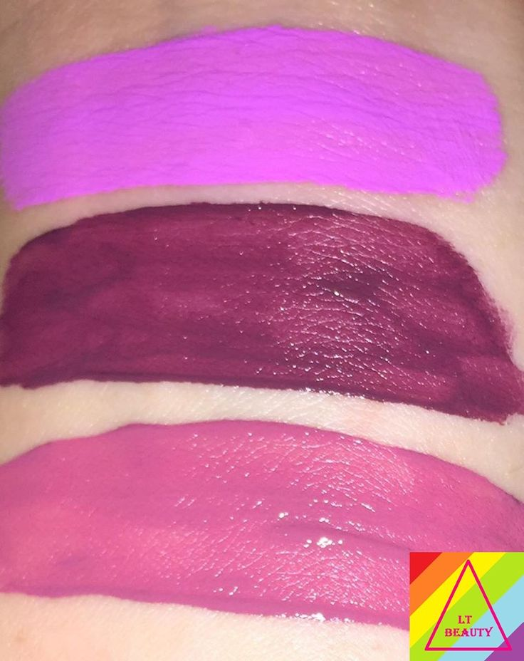 Swatch of Rave (top) Fetish (middle) and Polly (bottom) with flash