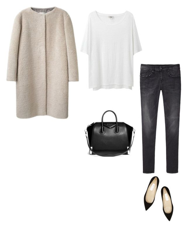 """""""Untitled #544"""" by feryfery ❤ liked on Polyvore featuring Acne Studios, R13, Jimmy Choo and Givenchy"""