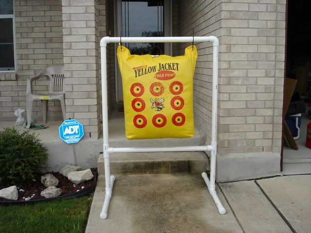 homemade fieldpoint target stand