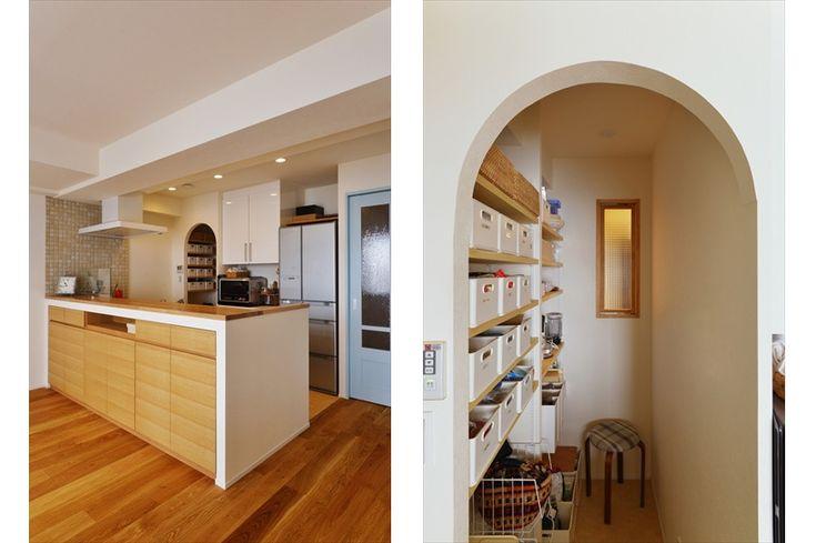 リフォーム・リノベーションの事例|キッチン・パントリー|施工事例No.537さわやかで明るい白のリビング|スタイル工房