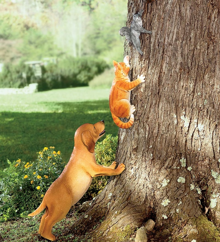 Dog And Cat Garden Statues