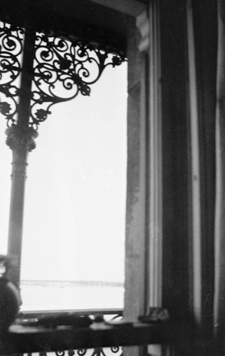 Paul Nash 'Black and white negative, iron railings at 2 The Parade, Swanage', [c 1935–1936] © Tate