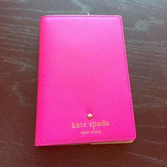 Pink Kate Spade passport holder NWT Hot pink Kate Spade passport holder. Brand new with tags! kate spade Accessories