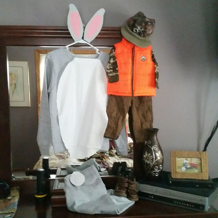 Bugs Bunny and Elmer Fudd costumes