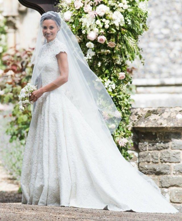 pipa Middleton wedding day
