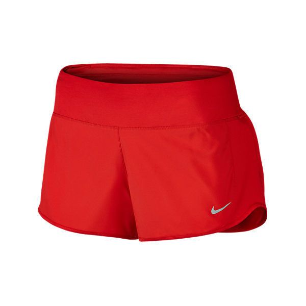Nike Women's Crew 3 Inch Running Shorts, Red ($15) ❤ liked on Polyvore featuring activewear, activewear shorts, red, nike jerseys, nike sportswear, reds jerseys, athletic sportswear and nike activewear