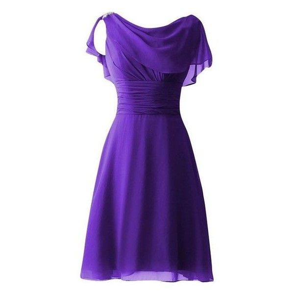 Amazon.com Cdress Women's Short Chiffon Bridesmaid Dresses Sequins Ca ❤ liked on Polyvore featuring dresses, purple prom dresses, chiffon bridesmaid dresses, short chiffon dress, purple sequin dress and formal prom dresses