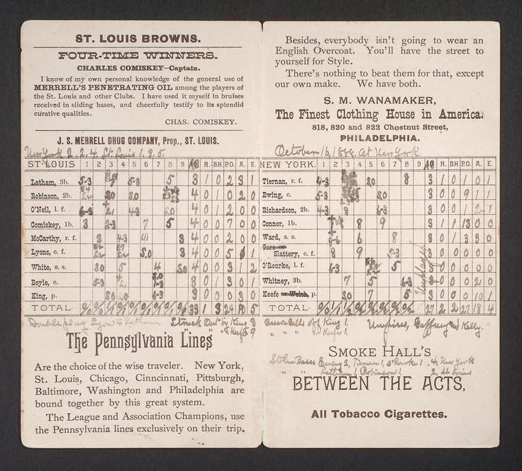 Best Scorecards Images On   Baseball Baseball