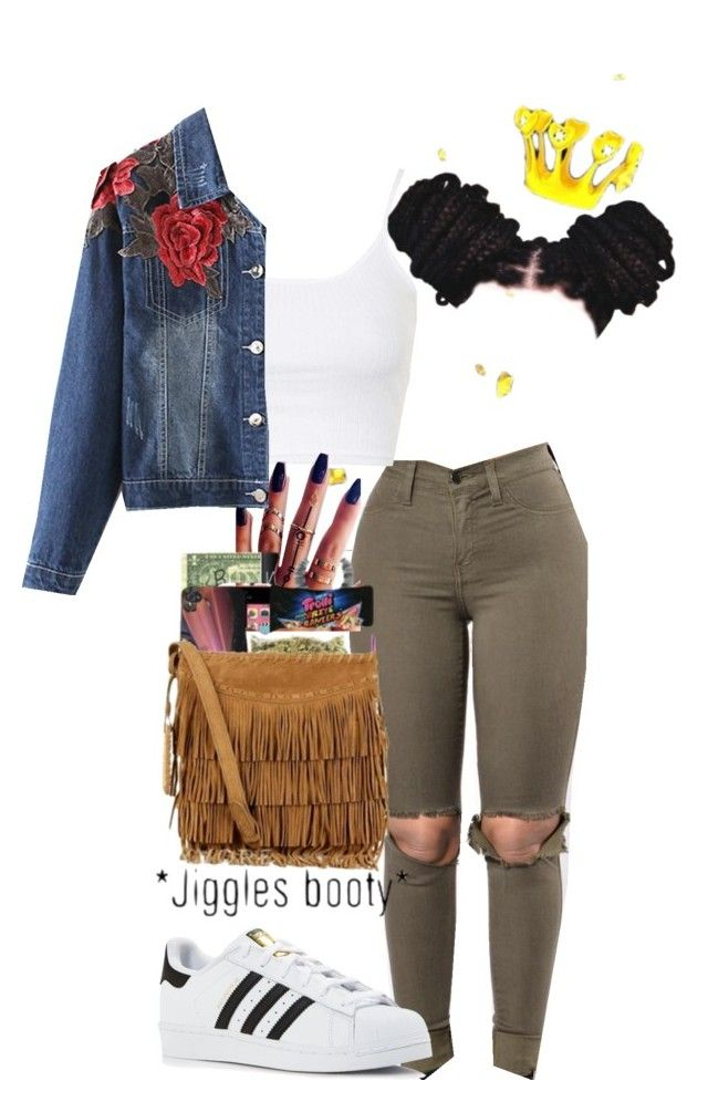 """""""Young And Popping """" by xotimaxo ❤ liked on Polyvore featuring Topshop, adidas and AG Adriano Goldschmied"""