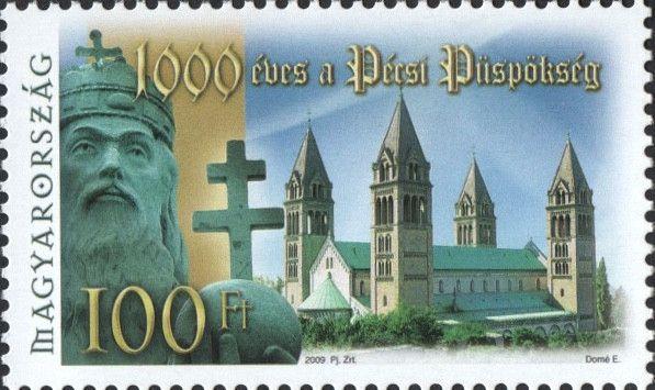 #4133 Hungary - Bishopric of Pécs, 1000th Anniv. (MNH)