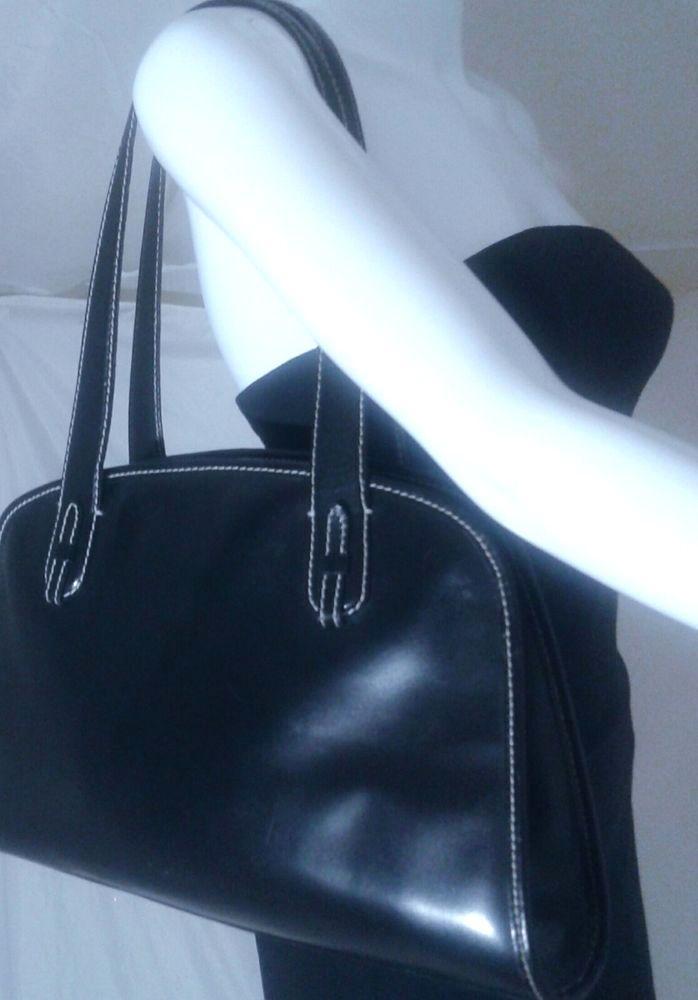 6f2f7d2aaf DESMO Italy Black Leather Shoulder Bag  Purse ~Retail  165  DesmoItaly   ShoulderBag handbags