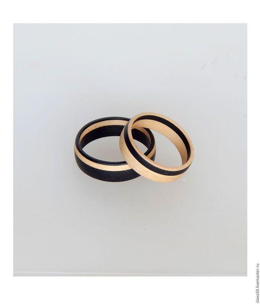 Свадебные украшения ручной работы. Ярмарка Мастеров - ручная работа. Купить Обручальные кольца из дерева.. Handmade. Кольца, деревянные