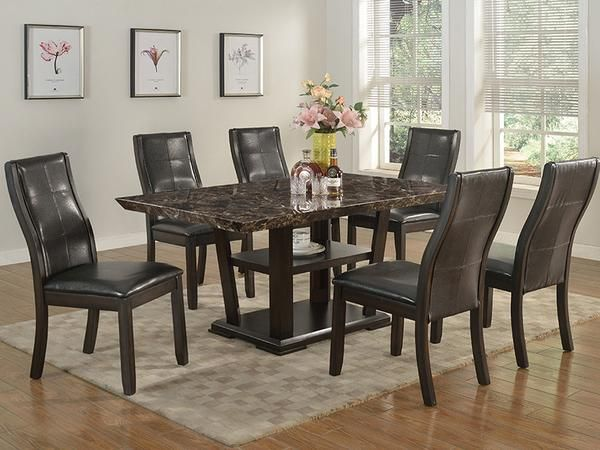 Charlotte Dining Table Set #www.craftmansfurniture.ca #furniture #furnituredesign #interiordesign #interiors #furnishing #couches #sofas #bedroomset #diningtable #rugs #coffeetables #canvas #endtables #accessories #accentchairs #canadianmade #solidwood #barstools #mirrors #heartlandtowncentre #handmade #mississauga #contemporaryart #bedroomdecor #homedecor #modernfurniture