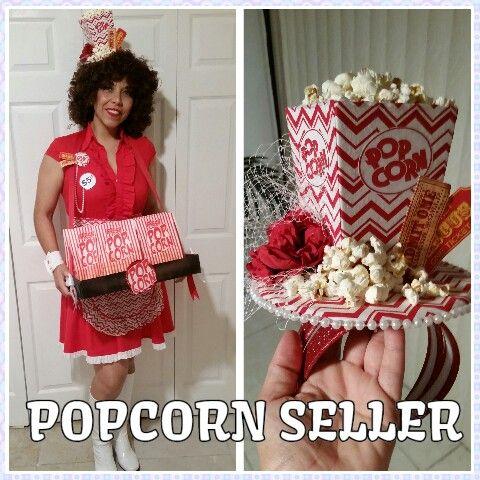 popcorn seller adult costume costume pinterest popcorn costumes and halloween costumes. Black Bedroom Furniture Sets. Home Design Ideas