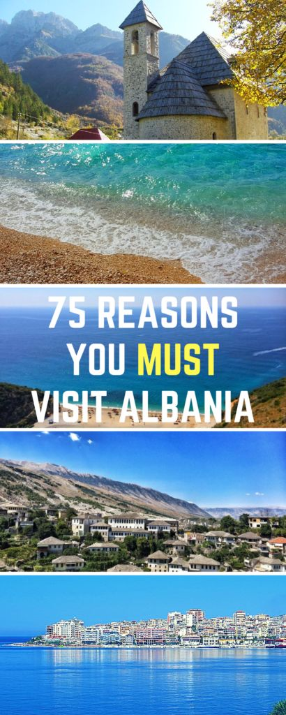 Travel Albania and be astounded by the food, history, picture opportunities, beaches, and culture. From the capital of Tirana to the Albanian Riviera, there's so much history and wonderful people to be found. Need convincing? I've got 75 reasons why this is literally my favorite country I've ever been to.