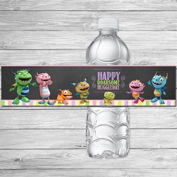 Henry Hugglemonster Water Bottle Label by ItsACowsOpinion on Etsy