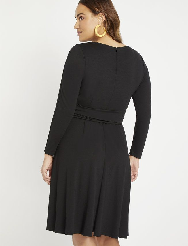 Long Sleeve Fit And Flare Dress Flare Dress Fit Flare Plus Size Dresses
