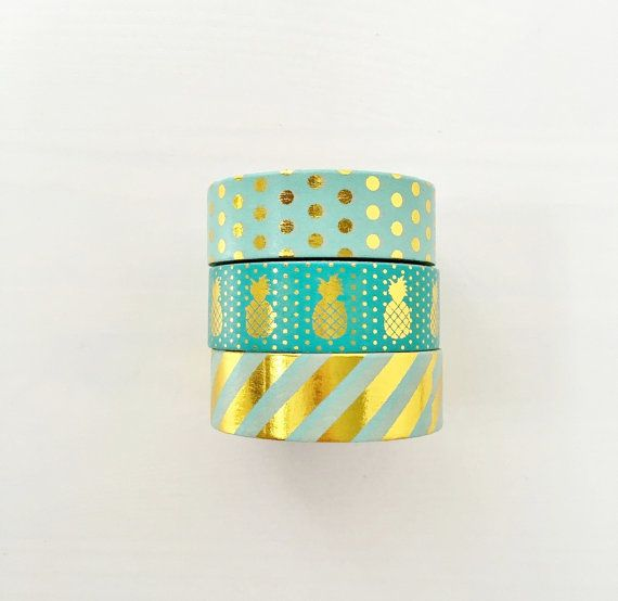This listing is for a set of THREE washi tape as shown  1.5cm x 10 meters  Click here for our entire washi tape collections: