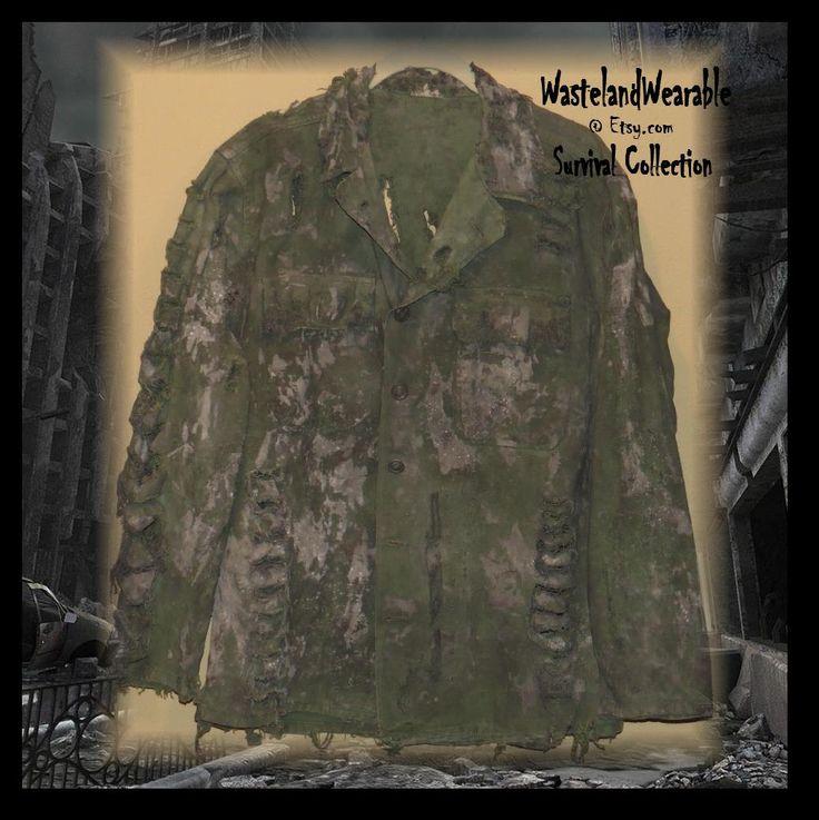 Post Apocalyptic JACKET MENS VIETNAM Era Combat Jacket  Apocalyptic Jacket Zombie Costume Size Medium Vintage ARmy Coat by WastelandWearable by WastelandWearable on Etsy