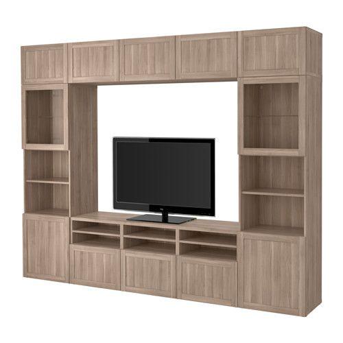 Best 197 Tv Storage Combination Glass Doors Hanviken