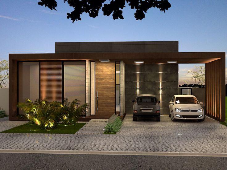 25 melhores ideias sobre fachadas de casas terreas no for Casas contemporaneas modernas