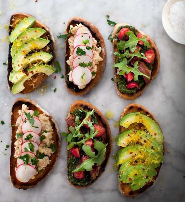 Learn how to build your own delicious tartines as a healthy appetizer at a dinner party.