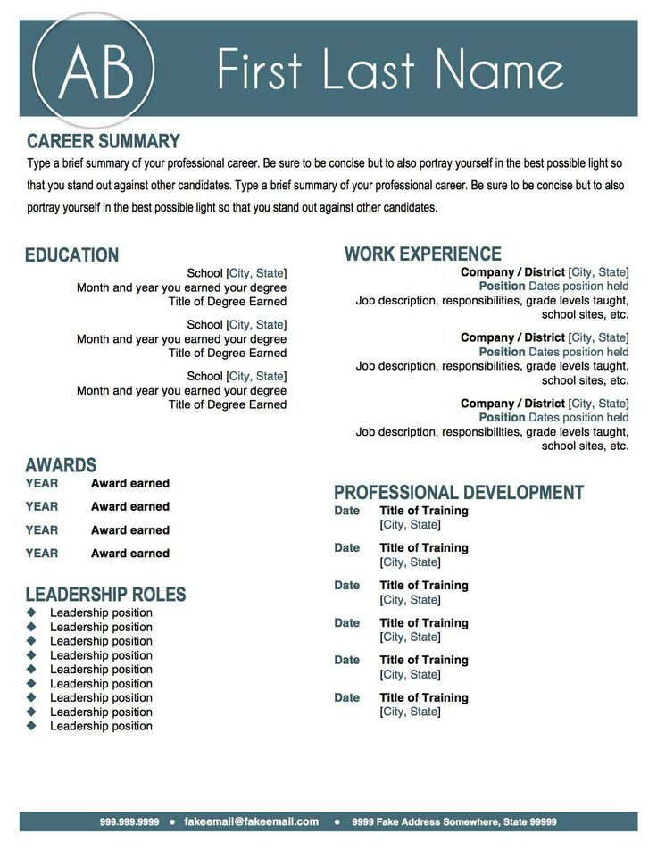 stand out resume examples
