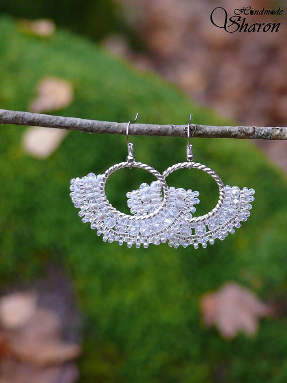 Crystal wedding lead lace chandelier earrings with bead