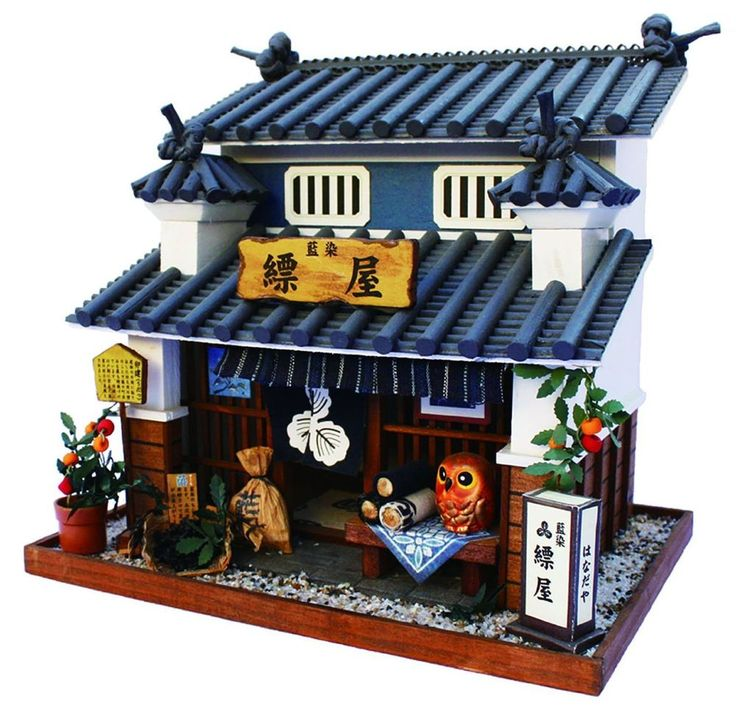 Doll House Miniature Model Kit Figure Handcraft / Japanese Dyeing Shop / Billy #Billy