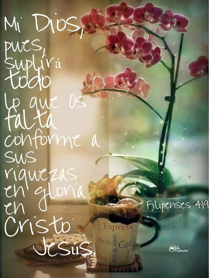 Filipenses 4:19 19 Mi Dios, pues, suplirá todo lo que os falta conforme a sus riquezas en gloria en Cristo Jesús.