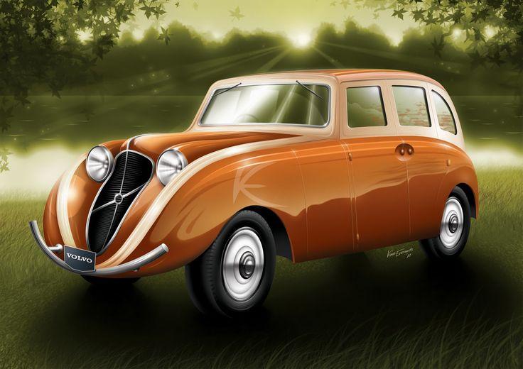 #Volvo Venus Bilo (1933) тоже претендует на звание «Самый первый #концепткар ». Возможно, слово Volvo к нему приклеили позже, а изначально Густав Эрикссон строил машину для себя, применив шасси Volvo. Задние колеса сдвинуты как можно дальше назад, благодаря чему салон вмещал шесть человек и девять полноразмерных чемоданов в специальных отсеках. Под впечатлением от Bilo выпустили Volvo PV36 Carioca. Сам Bilo после войны оказался в Дании, где его переделали в пикап, потом след машины исчез.