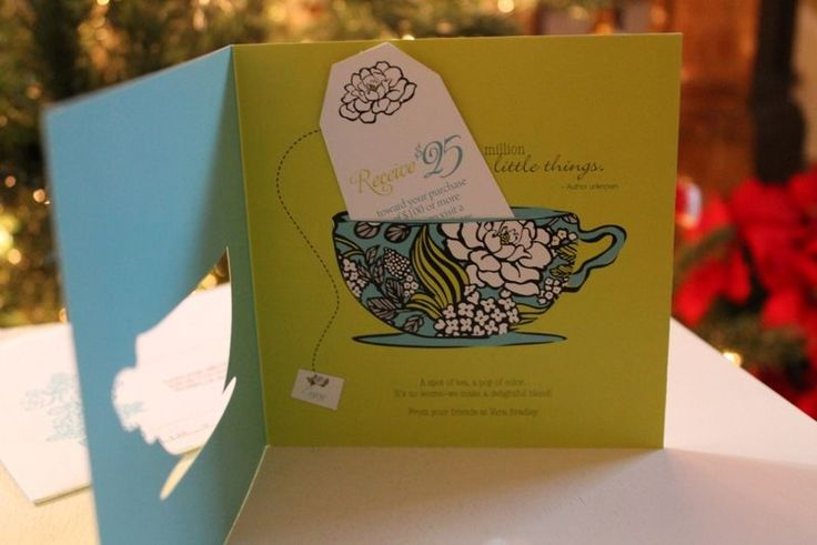 "Vera Bradley"" tea themed card!: Creative Cards, Cards Crafts, Invatation Cards, Invat Cards, Theme Cards"