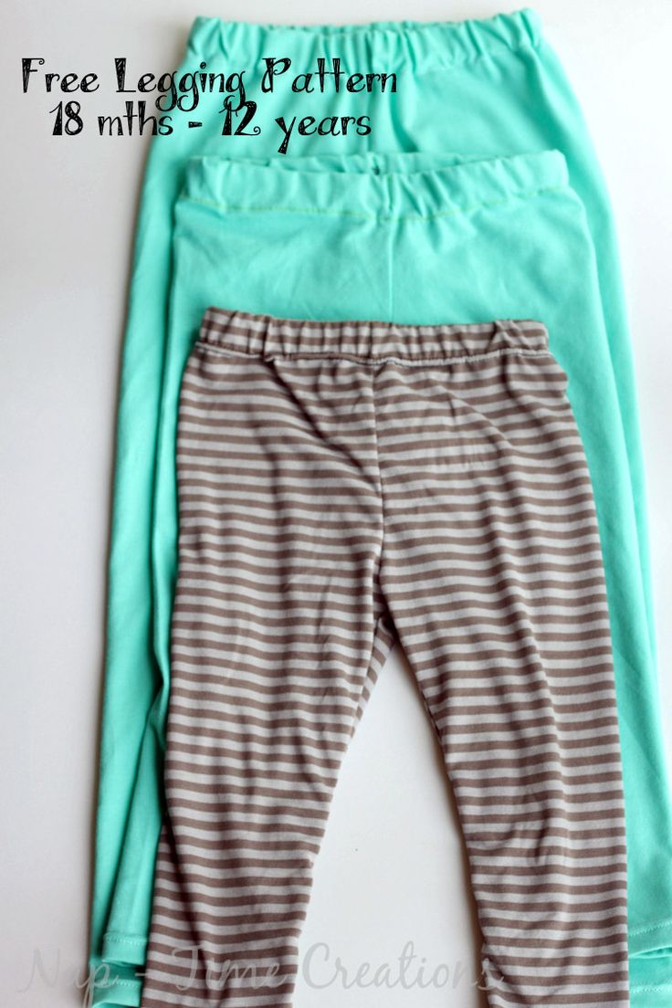 Free Classic Legging Pattern for Girls 18 mths-12 years - Nap-time Creations
