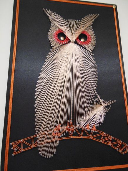 Quadro Coruja String Art 45x30cm