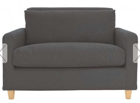 This Habitat Chester LoveSeat Sofa is about 4 years old. It's in charcoal colour with oak legs. It's