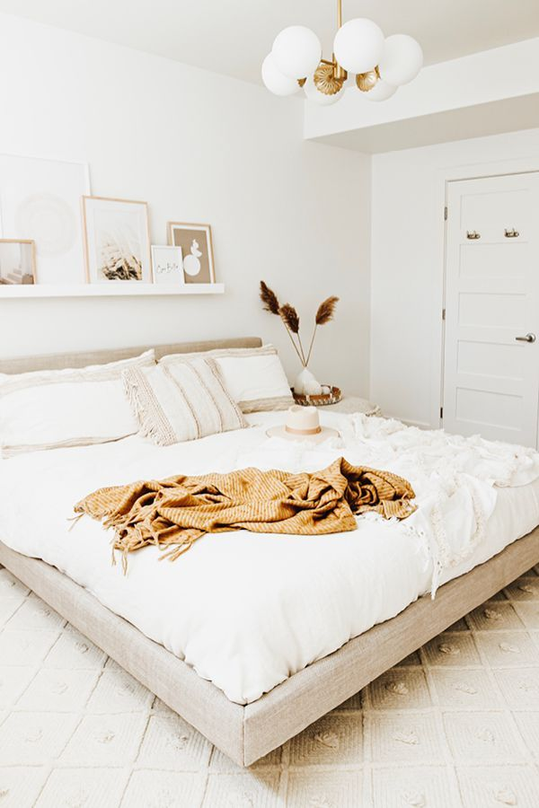 For The Bedroom That Seeks Modern Minimalism Without Sacrificing Welcoming Feeling Tessu Bed Decor Couples Interior