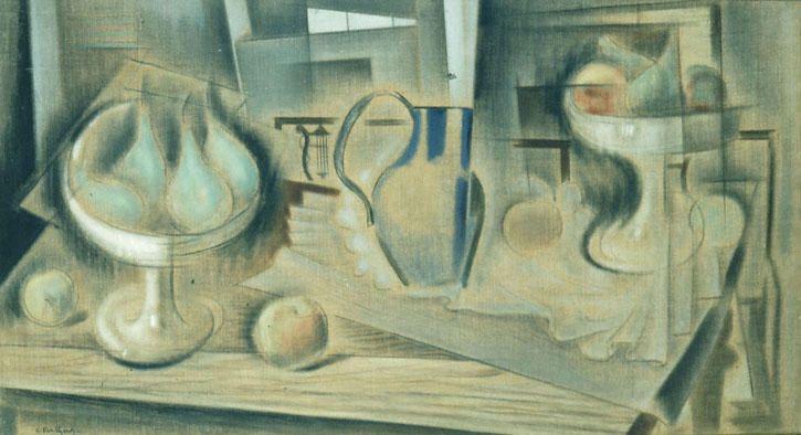 kaufen Gemälde'stillleben' von Konstantinos Parthenis - Kaufen Sie eine handgemalte Ölreproduktion , Kunstreproduktion, Ölgemäldereproduktionen, Kunst auf Leinwand, Kunstwerksreproduktion, Leinwand Ölgemälde Reproduktion Kunstwerk