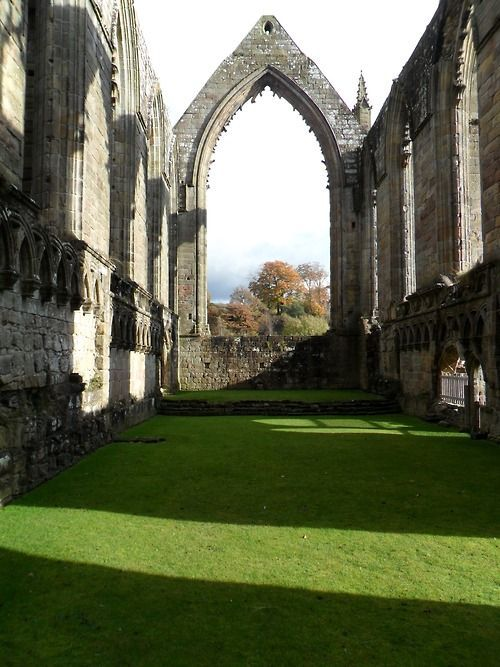 Ruins of Bolton Abbey in Yorkshire, England...