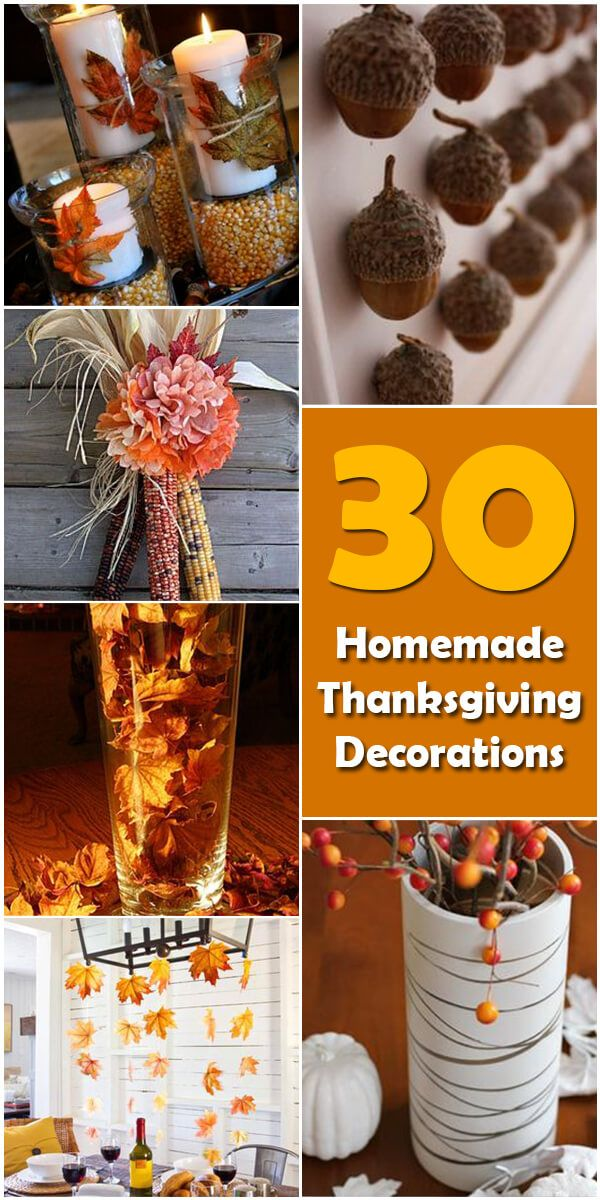 5 Homemade DIY Thanksgiving Decorations  Thanksgiving