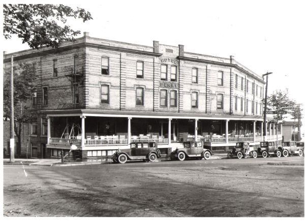 Hotel Perry, circa 1900! To celebrate our 115th year, we have a great offer for you – the Perry 115 Celebration Package! Click here for details http://staffordshospitality.wordpress.com/. #upnorth #travel #vacation #petoskey