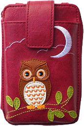 Owl cell phone wallet / mini bag