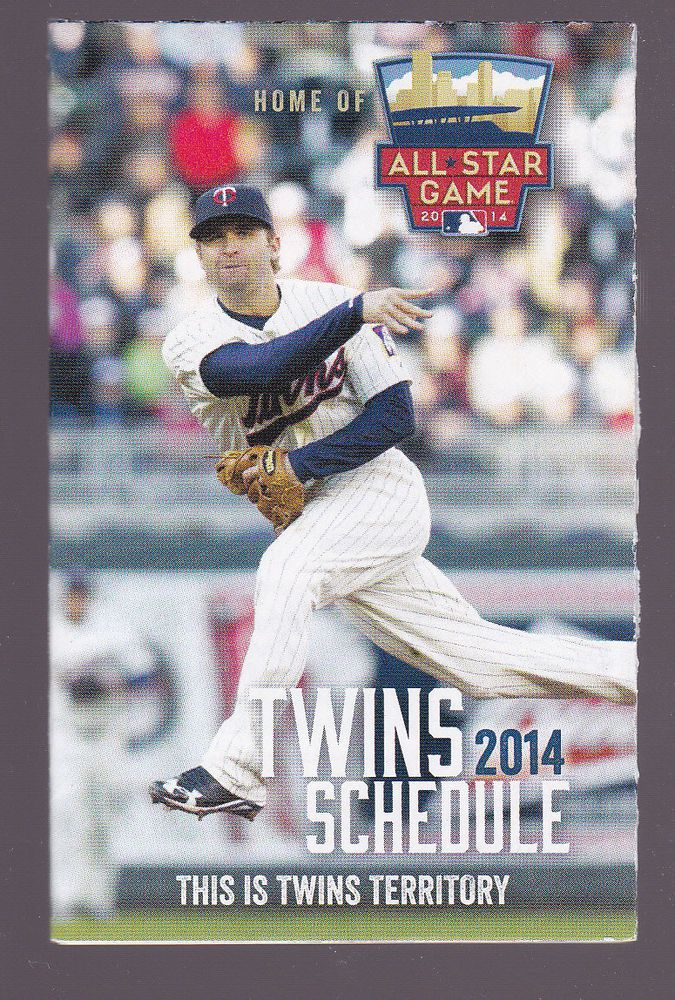 2014 MINNESOTA TWINS METRO TRANSIT BASEBALL POCKET SCHEDULE  FREE SHIPPING