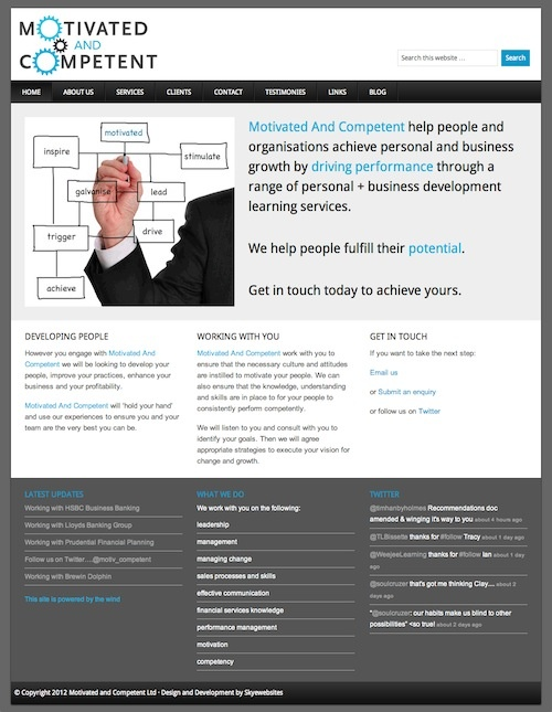 new #website refresh for Motivated and Competent sales training and learning services.