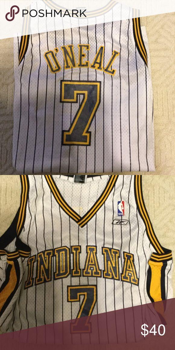 Indiana Pacers Jermaine O'Neal jersey! Throwback Indiana jersey worn by the great Jermaine O'Neal! Reebok Shirts Sweatshirts & Hoodies