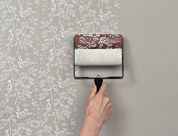 壁紙風に動物や植物のパターン柄を壁に描けるペイントローラー - 02