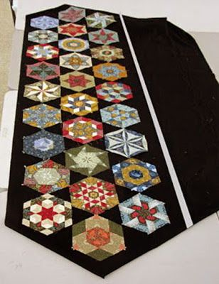 Hexathon sets in Black & White. Becky's black triangles.