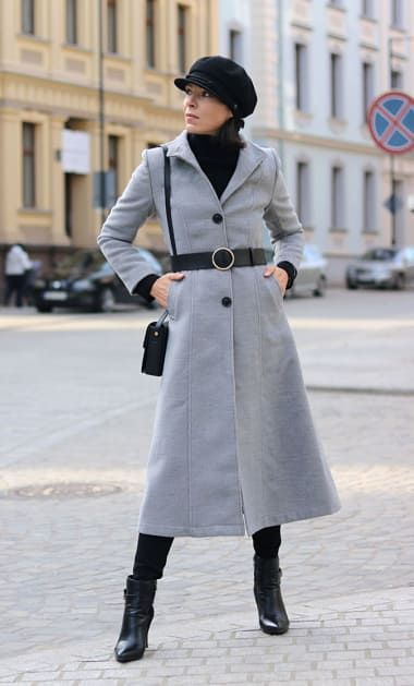 Street Outfit from minimalistmel with Brixton Hats, NA-KD Coats, Moschino Sweaters, Tod's Crossbody Bags, Dorothy Perkins Belts
