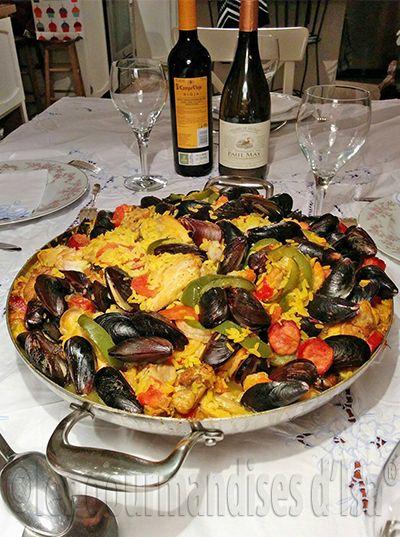 paëlla, rix, crevettes, moules, poulet, riz, safran, curcuma, chorizo,