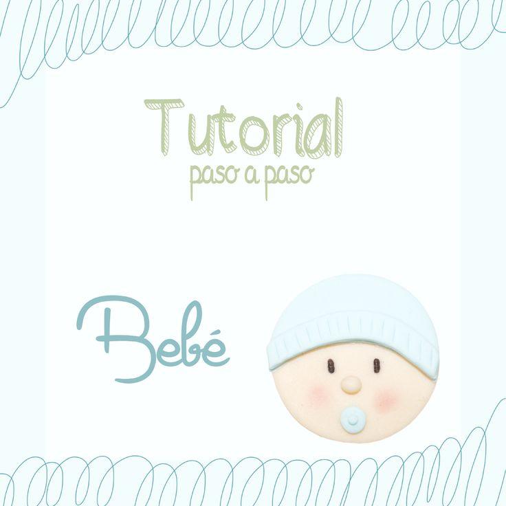 Tu medio cupcake: Tutorial paso a paso bebé fondant // Baby topper tutorial #baby #topper #tutorial #bebe #fondant #modelado